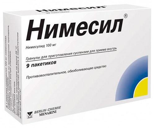Нимесил - таблетки от зубной боли