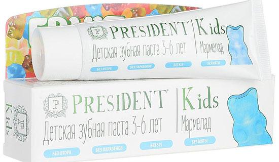 Детская зубная паста President