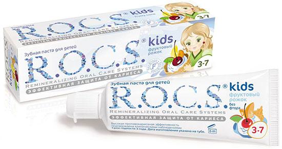 Детская зубная паста Rocs